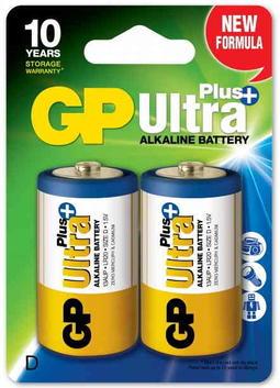 2 D-batterier