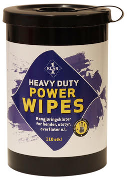 Heavy duty power wipes