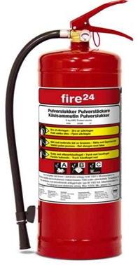 Fire24 brannslukker, pulver, ABC, 6kg